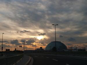 なにわの海の時空館・夕景
