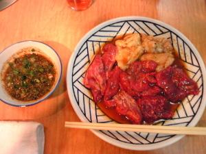 楽洛亭のボリュームランチ(肉とタレ)