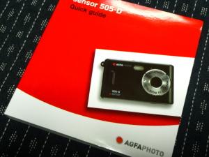 AGFA 505-Dの説明書