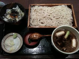 わさび味噌つけ麺@寄り屋