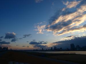 今朝の淀川